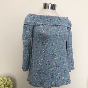 William Rast Floral off the shoulder top Size XS